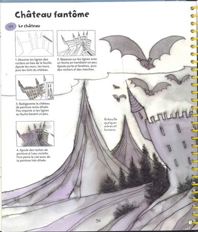 365 choses dessiner et peindre château fantôme