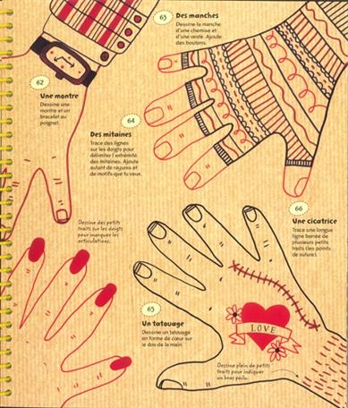 365 choses dessiner peindre mains