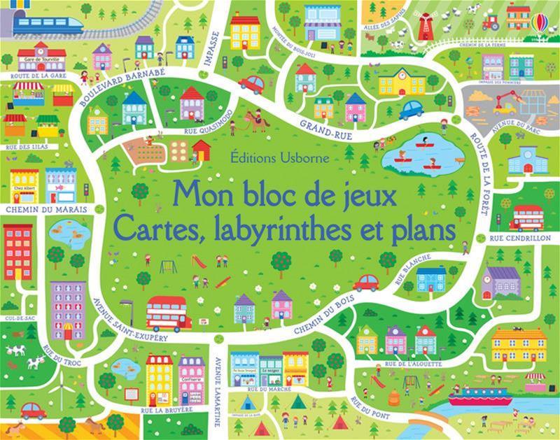 bloc jeux cartes labyrinthe plans usborne
